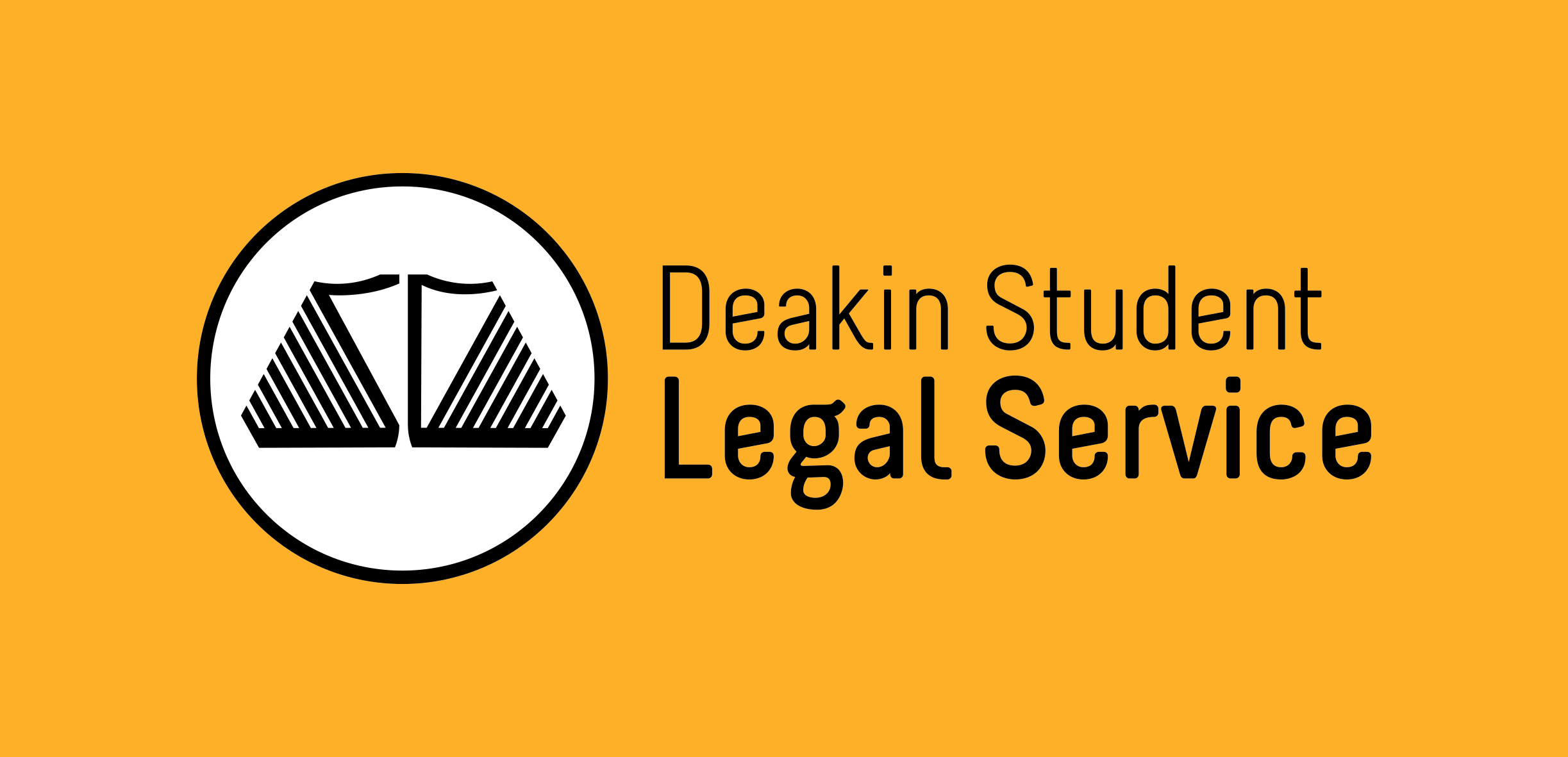 Deakin Student Legal Service Logo (Dark)